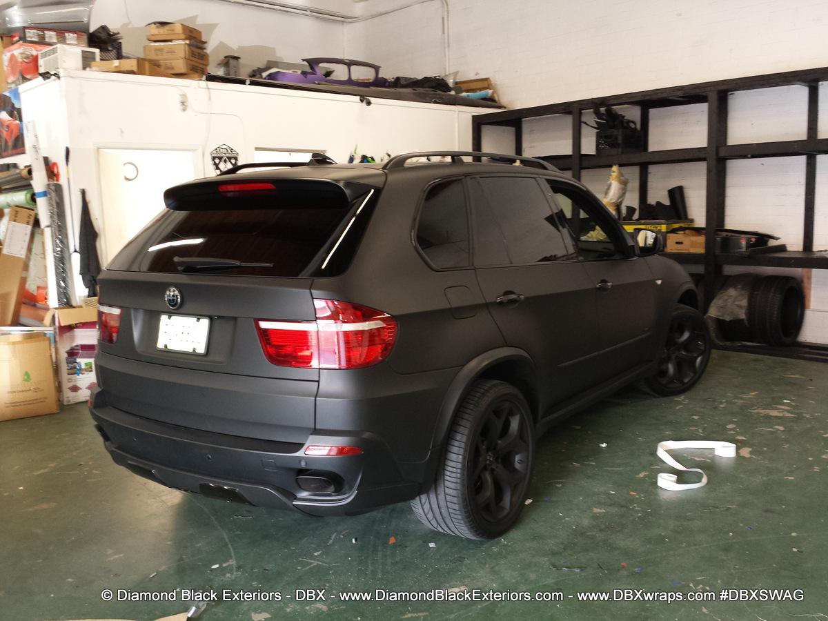 2009 Bmw X5 4 8is Wrapped In Matte Black By Dbx Diamond Black Exteriors Dbx Wraps