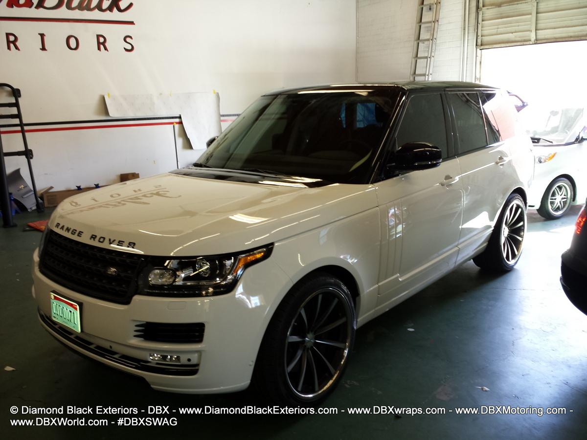 2013 Range Rover Hse Two Tone Gloss Black Roof Diamond