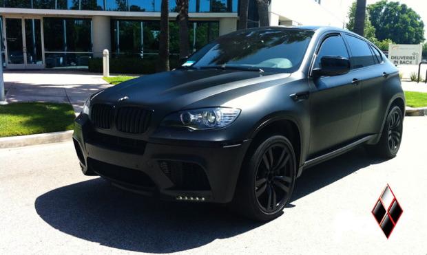 Matte Black BMW >> Bmw X6 M Wrapped In Matte Black Diamond Black Exteriors