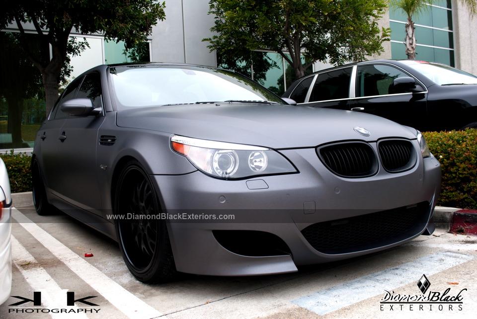 Bmw E60 M5 Wrapped In Dark Metallic Grey By Dbx Diamond