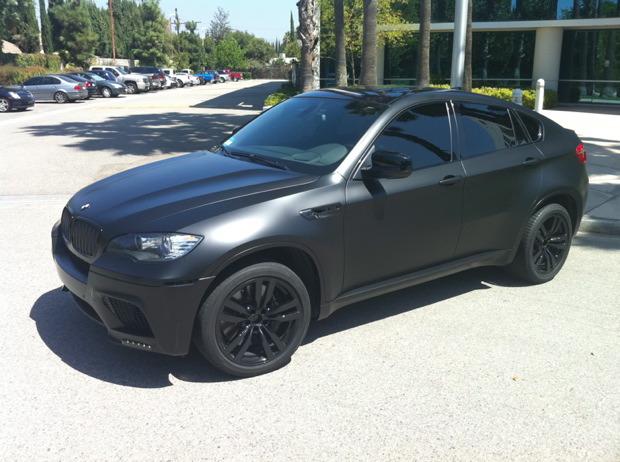 Bmw X6 M Wrapped In Matte Black Diamond Black Exteriors